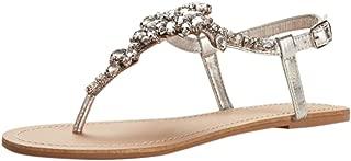 Jeweled T Strap Sandal Style Gemma