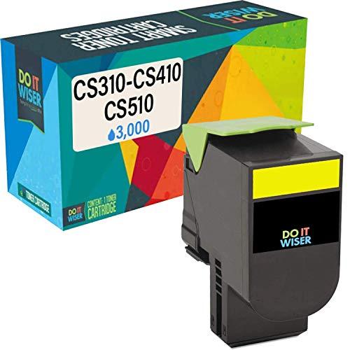 Do it Wiser Compatible Toner Cartridge Replacement for Lexmark 701HY CS310n CS310dn CS410n CS410dn CS410dtn CS510de CS510dte 70C1HY0 (3,000 Pages, Yellow)