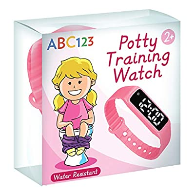 ABC123 Potty Training Watch - Baby Reminder Water Resistant Timer for Toilet Training Kids & Toddler (Pink) from ABC123