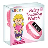 ABC123 Potty Training Watch - Baby Reminder Water Resistant Timer for Toilet Training Kids & Toddler (Pink)