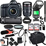 This Camera Bundle comes with Manufacturer Supplied Accessories and Includes : Canon EOS 5D Mark IV Digital SLR Camera featuring 30.4MP full frame CMOS sensor, Up To 7.0 frames per second continuous shooting, 61-point AF system, ISO 100 - 32000 range...