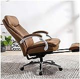 N&O Renovation House Silla de Masaje para Juegos Silla de Oficina de Carreras Diseño ergonómico reclinable con reposapiés (Tamaño: Negro)