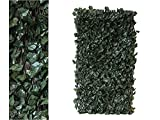 Artificial Ivy Screening on Willow Trellis 2 x 1 m Fence Hedge Maple Leaf Expanding Garden Cover Wooden