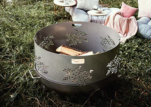 Czaja Funkenschutz mit Blumenmotiv für alle Feuerschalen Ø80cm