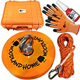 Strong Magnet Fishing 2000 LB Kit for Father Day Gift, with Case, Rope, Gloves and Durable Orange Rubber, Neodymium Rare Earth Magnet, Fishing Magnet Special Gift for Dad, 5.3inch, Lake Treasure Hunt