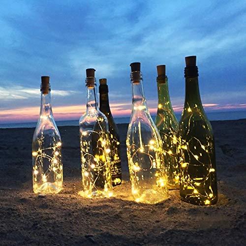 AIJIANG Tapón de botella tapón de botella caja de batería alambre de cobre cadena de luz impermeable festival decorativo luz