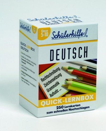 Quick-Lernbox Deutsch, Klasse 5-10