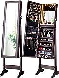 LUXFURNI LED Light Jewelry Cabinet Armoire,...
