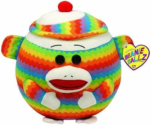 Ty Beanie Ballz Sock Monkey Rainbow - Large by TY Beanie Ballz