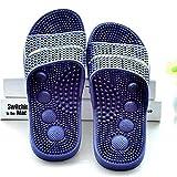 Zapatillas de Masajeador,Vulnerabilidad de Las Mujeres, Zapatillas Anti-frías, Tira, Masaje, Zapatillas frías-Azul Profundo_39,Zapatillas de Ducha Verano Antideslizante