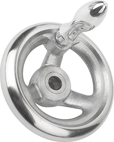 Volant sans écrou à bascule aluminium, Komp : Aluminium, D2 = 14, D1 = 160, 1 pièce, k0160.4160 x 14