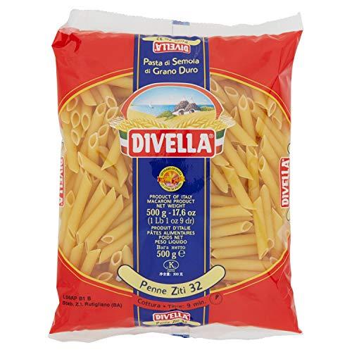 Divella - Penne Ziti 32, Pasta di Semola Di Grano Duro , 500 g