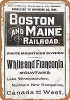 1895ボストンメイン鉄道キッチン装飾壁装飾バー錫金属看板ポスター20x30cm