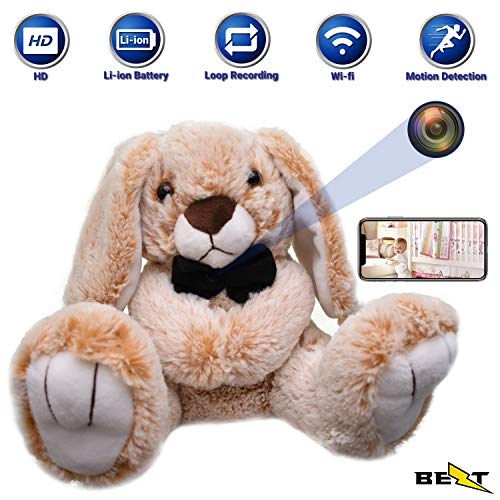 Hidden Spy Nanny Camera Wi-fi - Plush Toy with Hidden cam Surveillance Wireless Indoor Security Mummy's Buddy