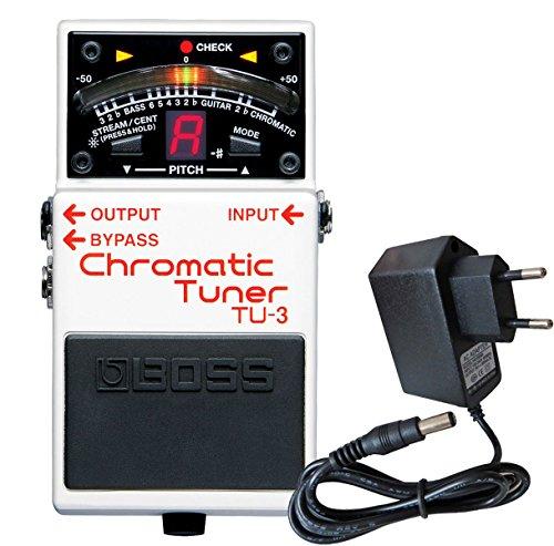 Boss TU-3, accordatore cromatico a pedale + alimentatore Keepdrum da 9 V