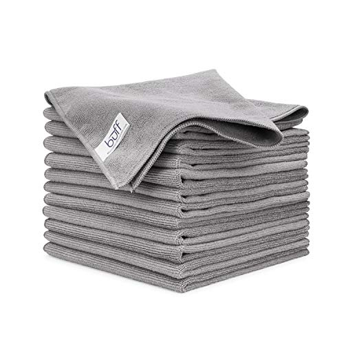 """Buff Microfiber Cleaning Cloths (12 Pack) 
