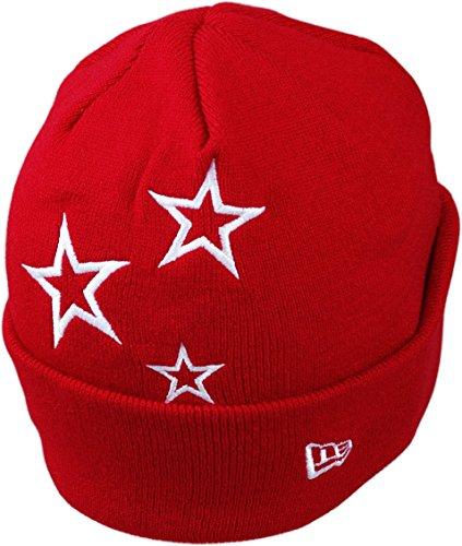 New Era Bonnet STARS CUFF BEANIE scarlet white