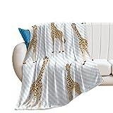 Desheze Kuscheldecke Kinder Giraffe Fleecedecke Flanell Decke Wohndecken Couchdecke Flauschig Überwurf Tagesdecke 150×200cm