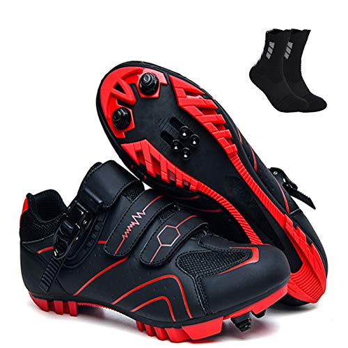 Zapatillas De Ciclismo Unisex para Hombre Zapatos Deportivos De Verano Zapatos De Bicicleta Transpirables para Exteriores Zapatillas De Carreras MTB Zapatillas De Ciclismo,D-40EU