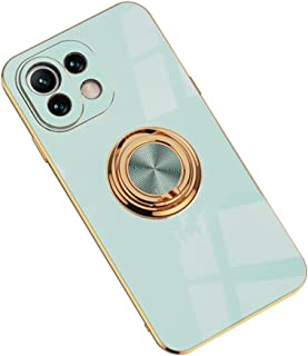 Hicaseer Case for Mi 11 Lite,Ultra-Thin Ring Shockproof Flexible TPU Phone Case with Magnetic Car Mount Resist Durable Cas...