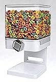 SHINE Dispensador de Cereales Doble/Individual La máquina/depósito de Alimentos Secos Contiene 19 onzas de Alimentos (Dispensador Individual Blanco)