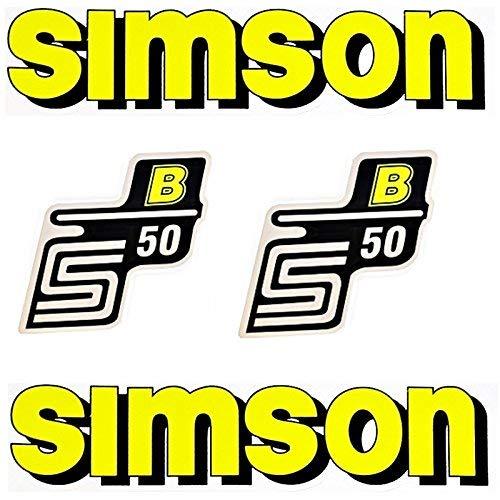 SET Aufkleber - Klebefolie SIMSON S50 B - GELB - für Tank und Seitendeckel