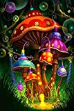 Mocmm Jigsaw Puzzle Fairy Tale Mushroom Puzzle 1000 Pieces Adult Puzzle Wooden Puzzle Cartoon Jigsaw Puzzles for Children Educational Toys Gifts
