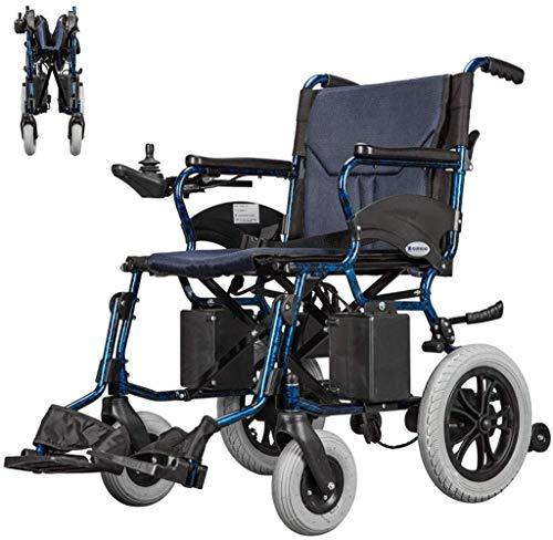 WXDP Autopropulsado Power Foldawheel eléctrico para discapacitados y ancianos silla de ruedas Silla eléctrica compacta Sistema de control dual ligero conmutación manual/eléctrica