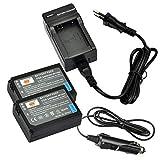 DSTE®(2 Pack)Ersatz Batterie und DC124E Reise Ladegerät Compatible für Samsung BP-1030 NX200...