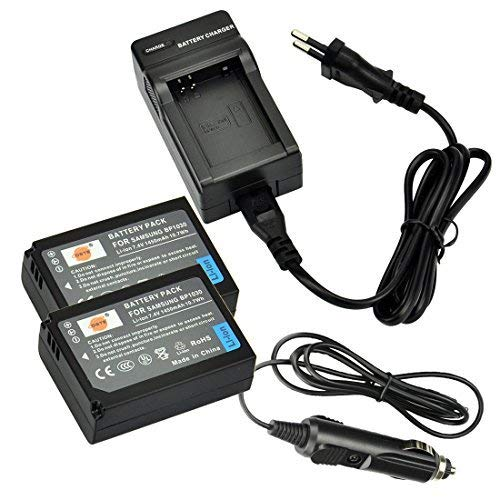 DSTE 2-pacco Ricambio Batteria + DC124E Caricabatteria per Samsung BP-1030 NX200 NX210 NX300 NX300M NX500 NX1000 NX1100 NX2000 como BP1030 BP1130 ED-BP1030