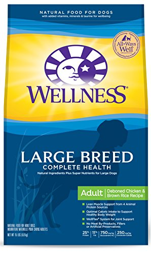 Wellness Complete Health Large Breed Chicken & Rice Natural Dog Food