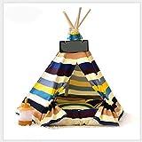 MUJING Indoor Baumwolle Leinwand Pine Print Zelt, Hund Haus Familie Zelt, Hund und