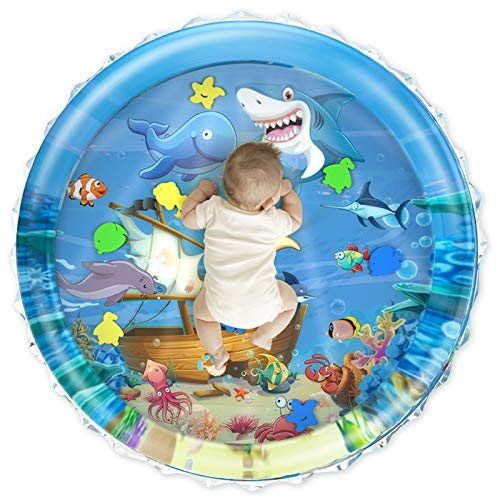 iHaHa 40''X40'' Baby Tummy Time Water Play Mat, Infant Baby Water Mat Toys for 0 3 6 9 12 Months...