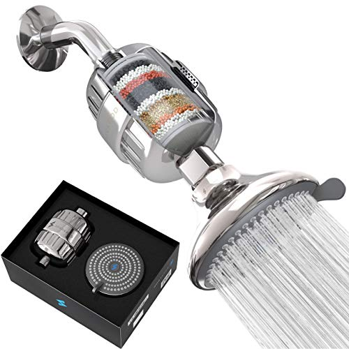 SparkPod Filter Shower Head - High-Pressure Water Filtration for Chlorine & Harmful Substances (Reduces Eczema & Dandruff) - Adjustable & Easy-to-Install