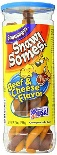 Snausages Snawsomes! Beef & Cheese Snacks for Dogs