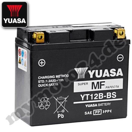 Yuasa YT12B-BS–Batteria, 12V/10Ah (dimensioni: 150x 69x 130)