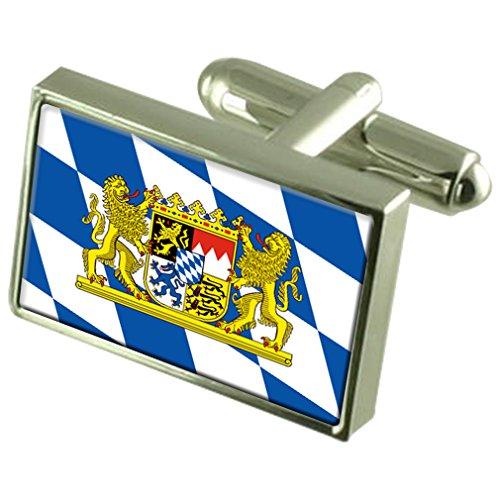 Bayern Der Sterling Silber Manschettenknöpfe Flagge