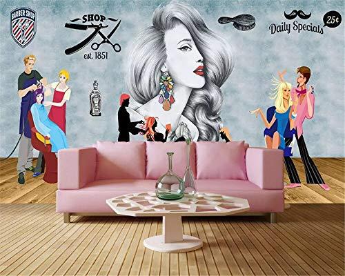 Carta da parati stereo di moda personalizzata retro negozio di abbigliamento dipinto a mano di bellezza utensili per interni carte da parati decorazioni per la casa 140 cm x 70 cm