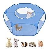 SlowTon Parque Infantil Animales pequeños, Tienda de jaulas para Mascotas Transparente y Transpirable Pop Abierto Cerca de Ejercicio al Aire, Cerca de Patio Plegable al Aire Libre