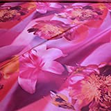 Stoff Polyester Kleidertaft pink Orchidee lila Taft