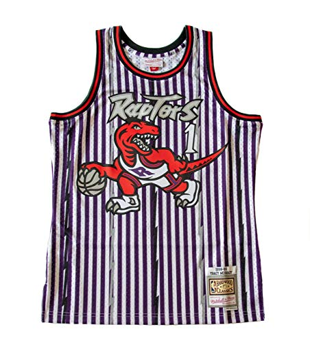 Mitchell & Ness Camiseta de la NBA Swingman T. Raptors de T. McGrady, color morado morado M