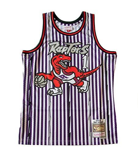 Mitchell & Ness Camiseta de la NBA Swingman T. Raptors de T. McGrady, color morado morado XXL