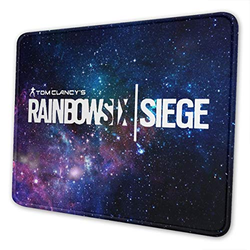 Marrh Rainbow-Six-Siege Mouse Pad Pattern Mousepad Non-Slip Rubber Gaming Mouse Pad Rectangle Mouse Pads for Computers Laptop10 X 12 Inch