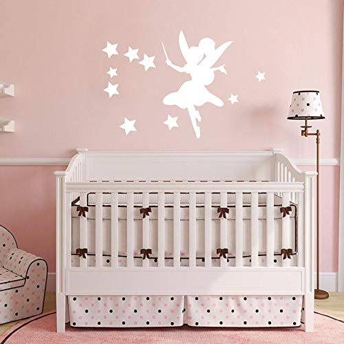 Uiewle Pegatinas de Pared para Sala de Estar, Dormitorio de niña, decoración del hogar, Silueta, calcomanía 48x74cm