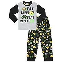 Pijama Largo para niños con Control de Juego Negro Negro (9-10 Años