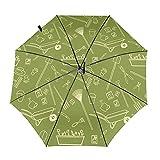 Diseño automático ligero compacto portátil del paraguas del viaje amarillo de las herramientas del jardín y alta resistencia al viento