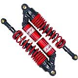 WildBee 360mm 14 Pulgada Universal Amortiguadores Suspensión Trasera Compatible con Más ATV Go Kart Quad Motocicleta Negro Rojo