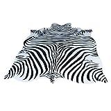 Li Li Na Shop Moquettes Tapis et sous-Tapis Tapis Tapis de Peau de Vache Zebra L'ensemble Nordique américain Animal Tapis Noir et Blanc Salon Chambre lit Petit Circulaire en Forme de Tapis Mince