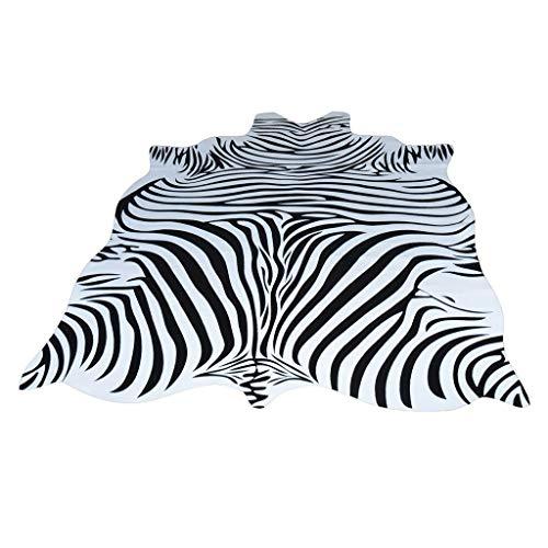 Li Li Na Shop Alfombras y moquet Alfombras Zebra Cowhide Rug Toda la Alfombra en Blanco y Negro de los Animales nórdicos Sala de Estar de la Sala de Estar pequeña Alfombra Circular de Forma Circular