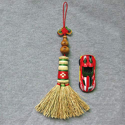 Pendentif Berceau Bébé Suspendu Mini Pépin De Sorgho Pendentif Petit Balai(Colour:Gourde)